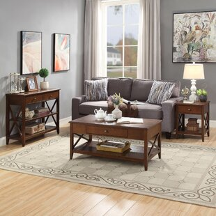 Ziegler 3 Piece Coffee Table Set Loon Peak