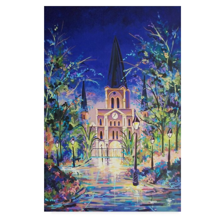 Fantasy St Louis Cathedral Acrylic Painting Print On Wrapped Canvas