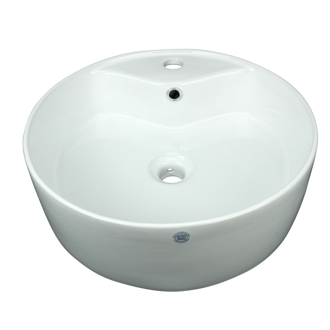 The Renovators Supply Inc Vitreous China Circular Vessel Bathroom Sink With Overflow Wayfair