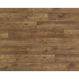 Restoration Wide Plank 8'' x 51'' x 12mm Hickory Laminate Flooring in Ember