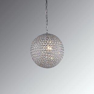 Warehouse of Tiffany Gertrude 3-Light Crystal Pendant