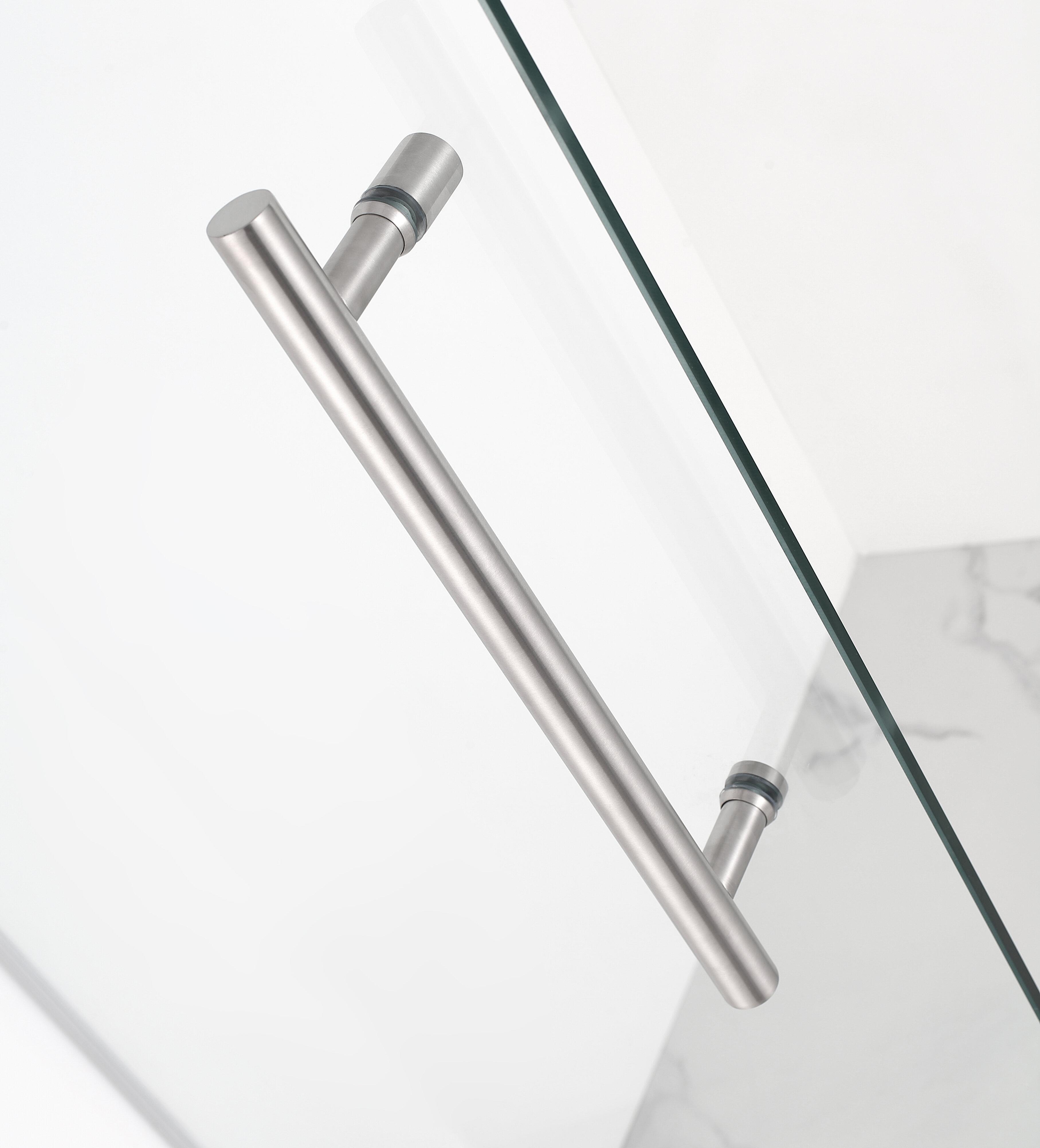 Aston Kinkade 24 x 72 Hinged Frameless Shower Door Stainless Steel