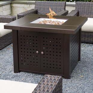 Eden Steel Propane Fire Pit Table By Pleasant Hearth