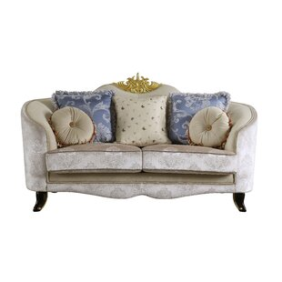 Rosdorf Park Quane Loveseat w/5 Pillows