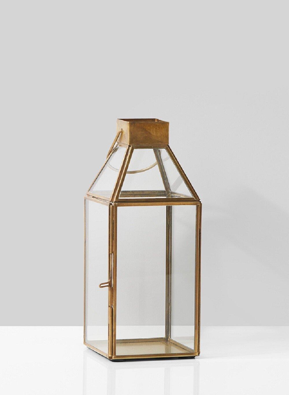 Wrought Studio Square Glass And Metal Lantern Reviews Wayfair