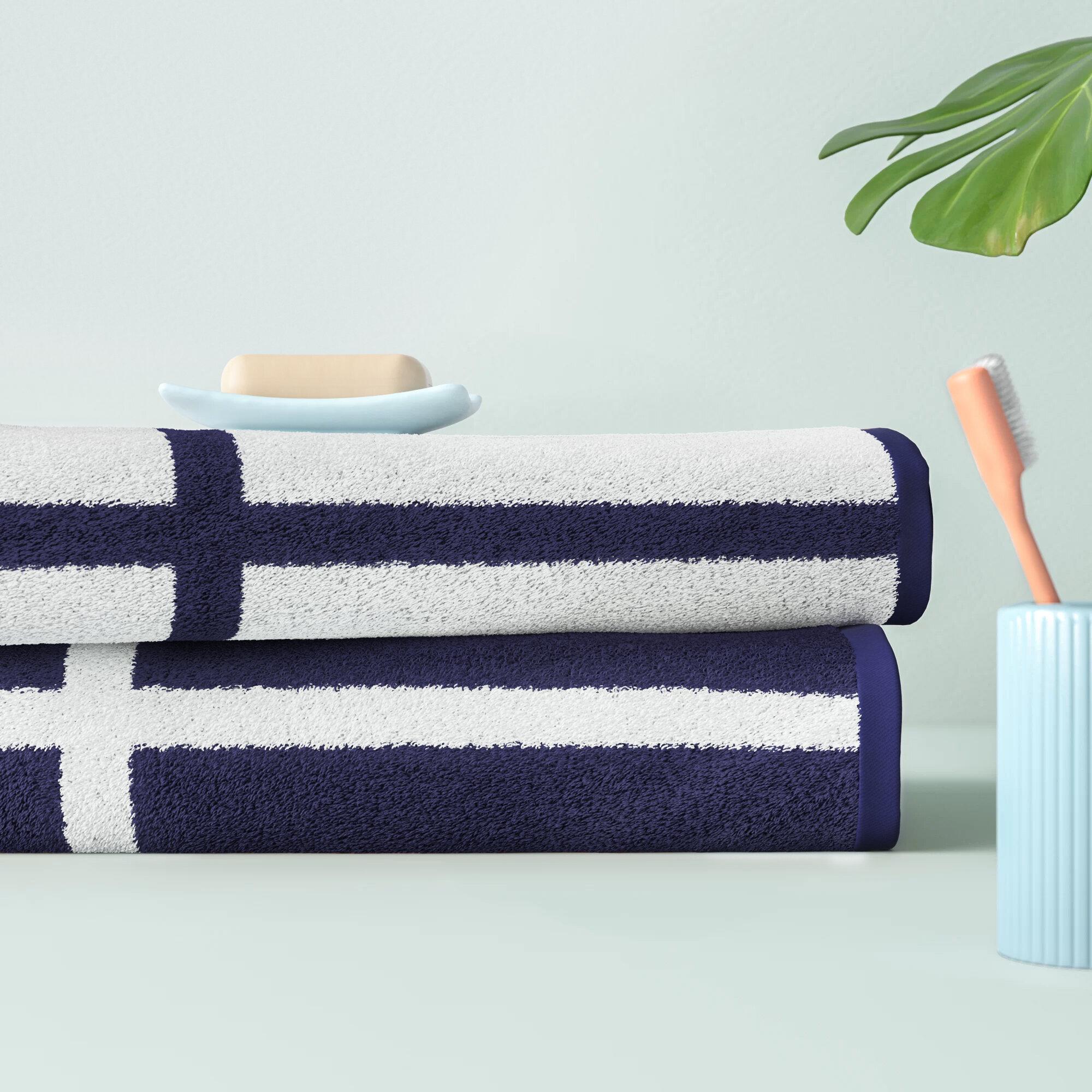 Hashtag Home Phenomenon Reversible 2 Piece 100 Cotton Bath Sheet Towel Set Reviews Wayfair