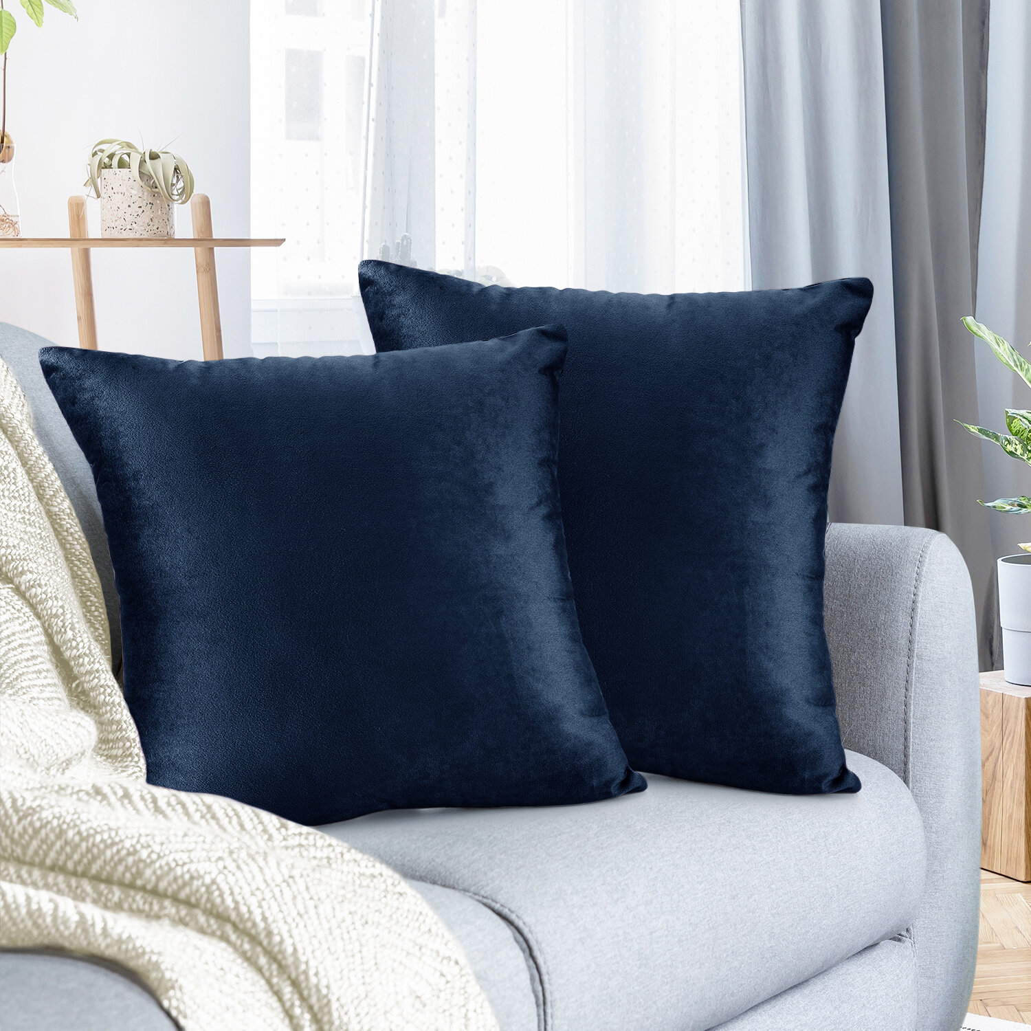 Navy Throw Pillows You Ll Love In 2021 Wayfair