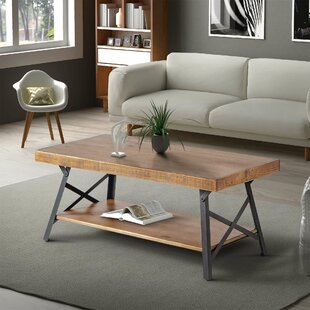 Blacke Sled Coffee Table with Storage
