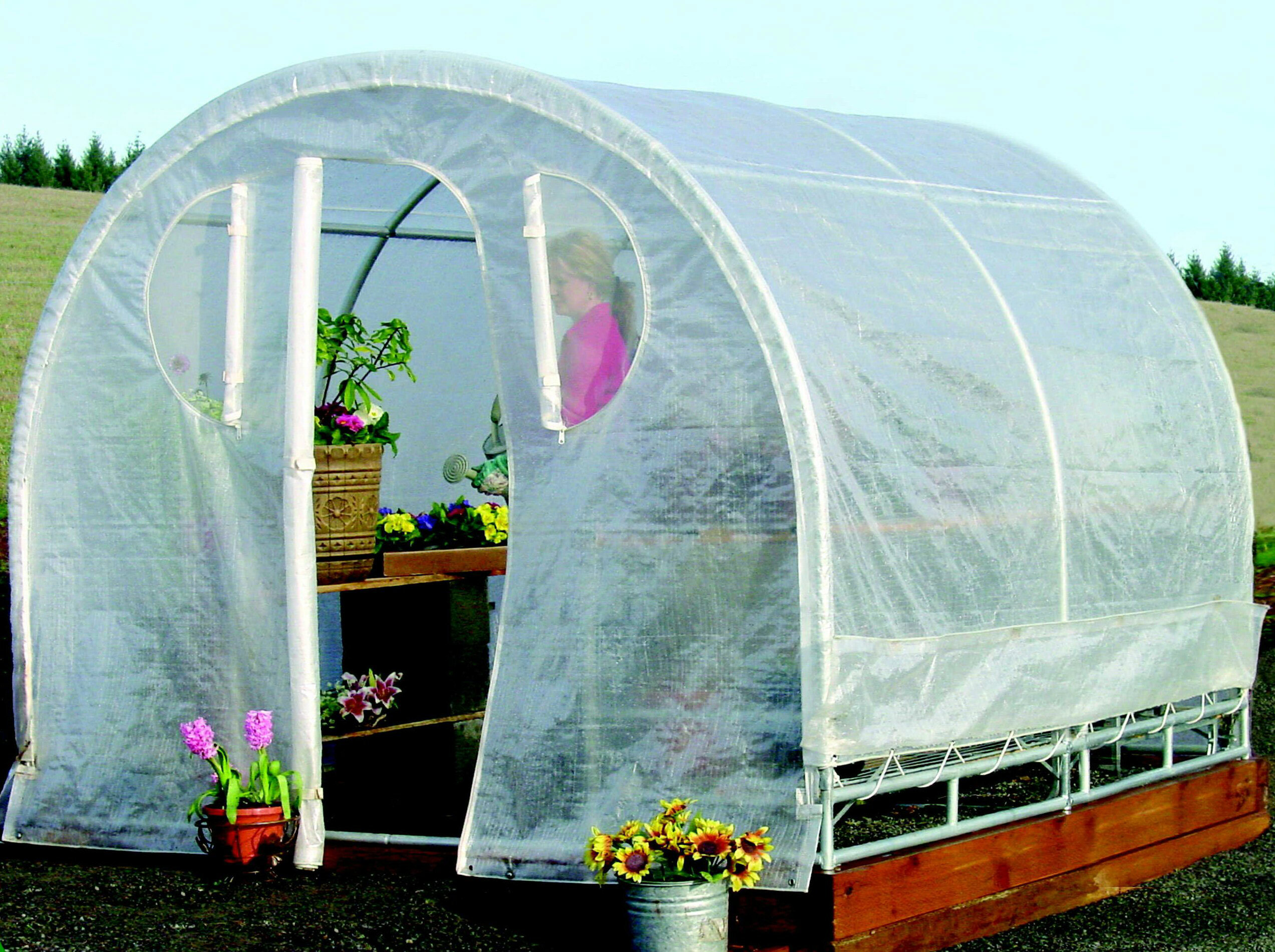 Jewett Cameron Weatherguard 8 Ft. W x 12 Ft. D Commercial Greenhouse ...