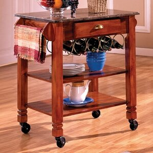Kitchen Cart with Marble Top by Bernards