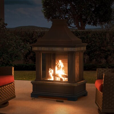 Brownston Steel Wood Burning Outdoor Fireplace