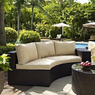 Cleopatra Sofa with Cushions by Mercury Row