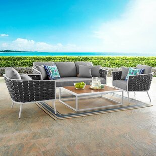 Rossville 4 Piece Sofa Seating Group with Cushions