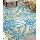 Galina Blue Indoor/Outdoor Area Rug byBeachcrest Home