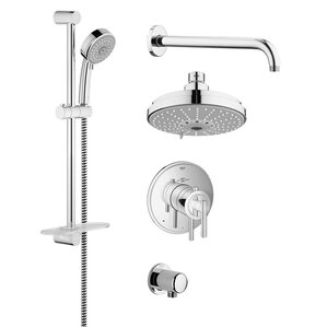 Shower Faucets You ll Love   Wayfair. Black Shower Head And Faucet. Home Design Ideas