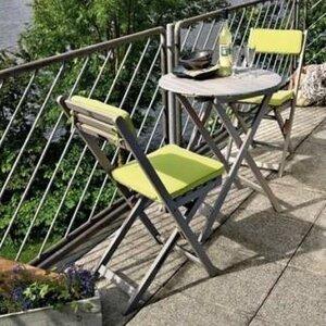 2-Sitzer Balkonset mit Polster von Belardo