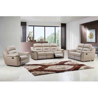 Air Reclining 3 Piece Leather Living Room by Red Barrel Studio SKU:EB977300 Order