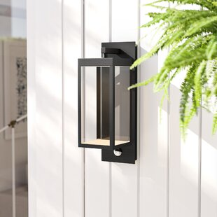 Clairette LED Outdoor Wall Lantern With Motion Sensor By Lucide