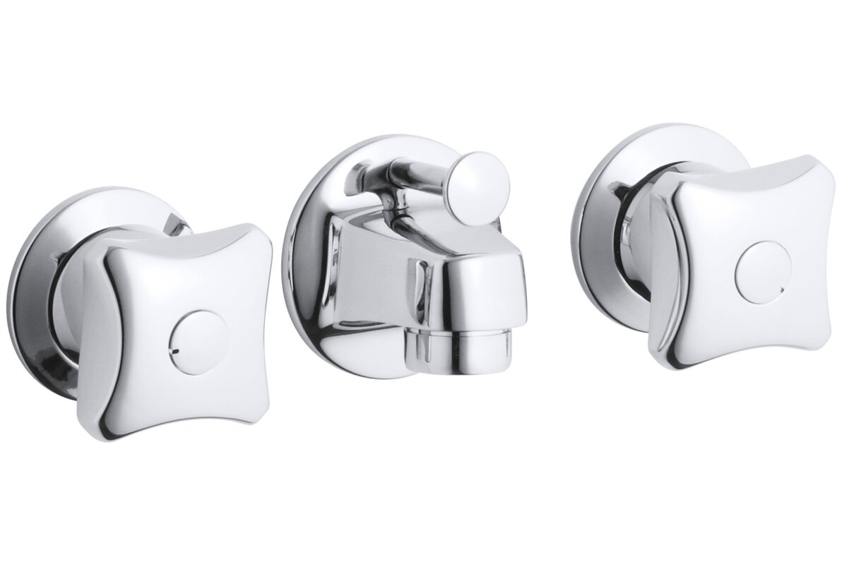 K-8040-2A-CP Kohler Triton Shelf-Back Commercial Bathroom Sink ...