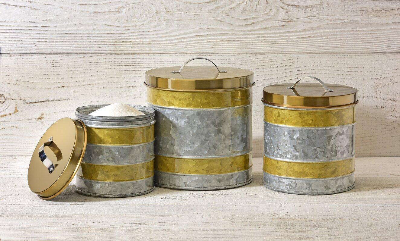 3 piece kitchen canister set kitchen storage kitchen tools