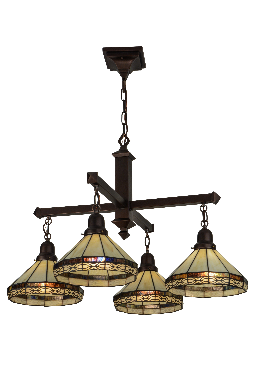 Meyda Tiffany Greenbriar Oak 4 Light Kitchen Island Cone Pendant Wayfair