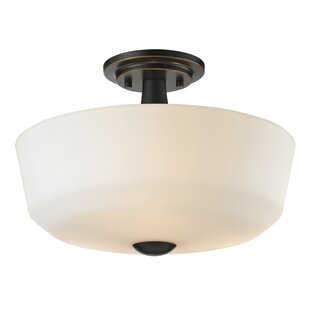 Seeber 3-Light Semi Flush Mount by Brayden Studio