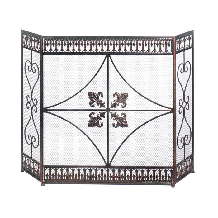 room antique iron ornate on cast throughout screen impressive fire living fireplace style wrought screens with and