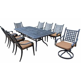 Darby Home Co Arness 12 Piece Metal Dining Set and Lounge Set
