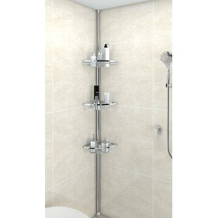 Anne Adjustable 3 Tier Tension Bathroom Shower Caddy By Rebrilliant