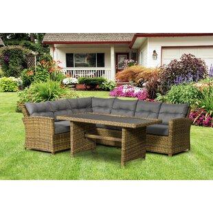 Judah 6 Seater Rattan Corner Sofa Set Image
