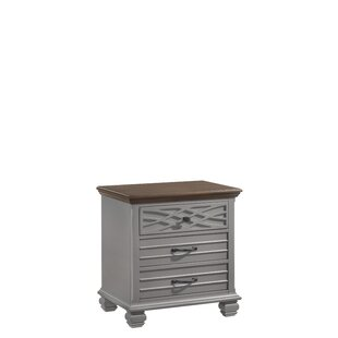 Parlington 3 Drawers Nightstand by Three Posts