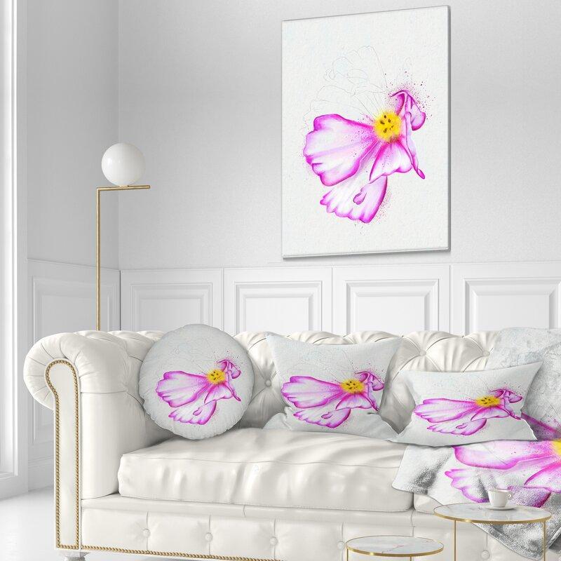 East Urban Home Floral Fantastic Flower Watercolor Lumbar Pillow Wayfair
