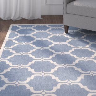 Rockbridge Blue/Beige Indoor/Outdoor Area Rug