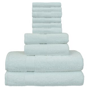Isiah Eco Dobby Border 10 Piece 100% Cotton Towel Set