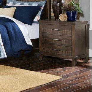 Savings Carolos Wooden 3 Drawer Nightstand by Gracie Oaks