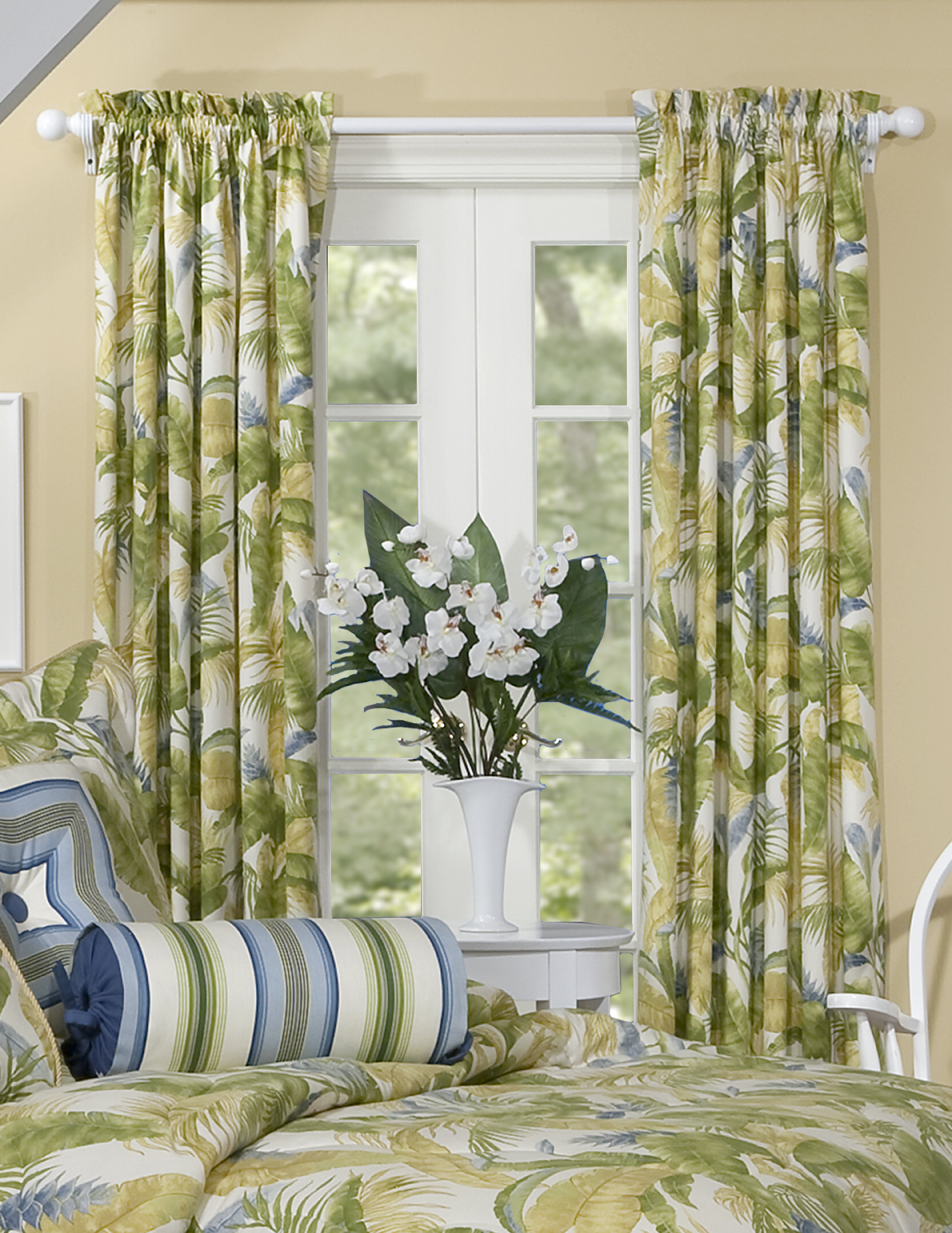 Bay Isle Home Munich Nature Floral Room Darkening Rod Pocket Curtain Panels Reviews Wayfair