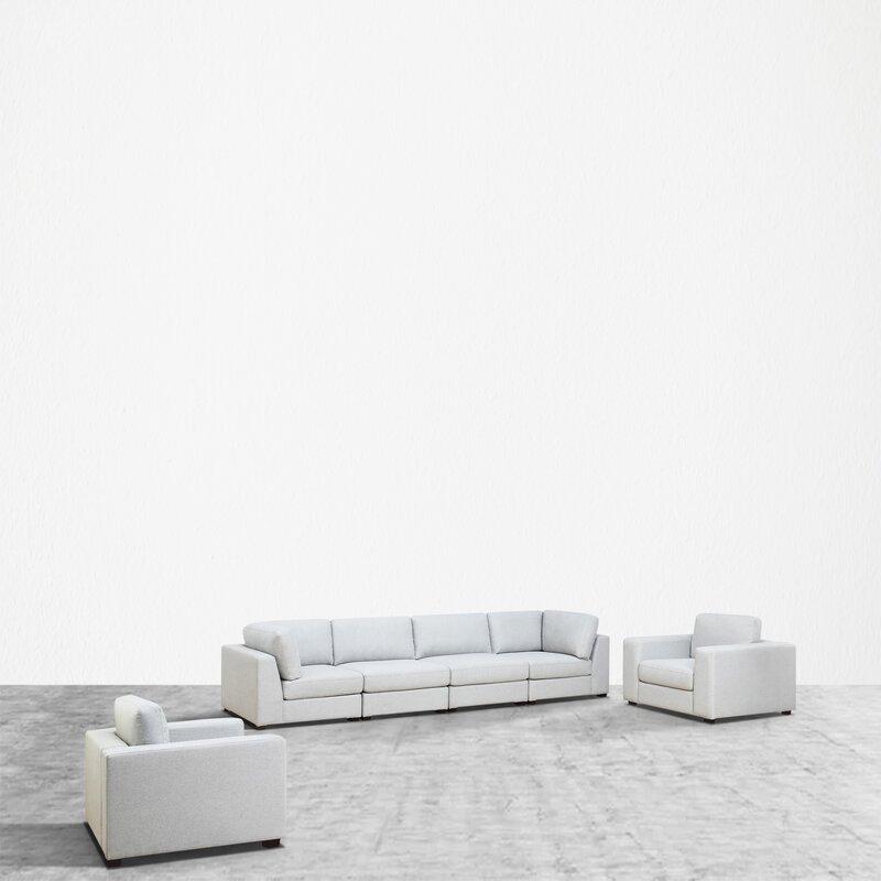 Orren Ellis Kendrick Reversible Modular Sectional Wayfair,Small Living Room Furniture Arrangement Ideas