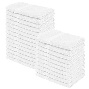 Wasser 100% Cotton Washcloth (Set of 24)
