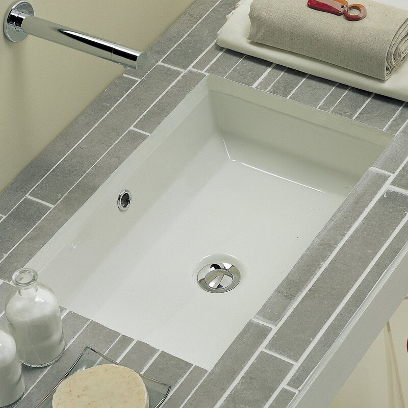 Tech Rectangular Ceramic Undermount Sink