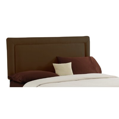Adamek Upholstered Panel Headboard Size: California King, Color: Chocolate by Mack  and  Milo