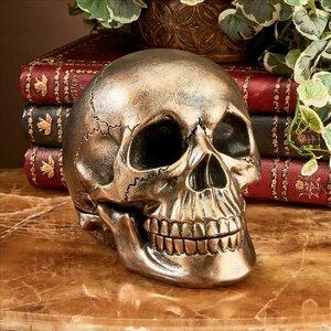 Memento Mori Skull Table Clock Bust