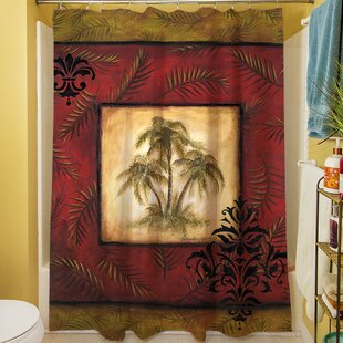 Palm Breezes V Single Shower Curtain