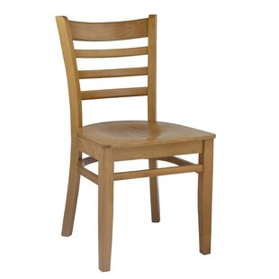 Segura Ladder Back Solid Wood Dining Chair (Set of 2) August Grove