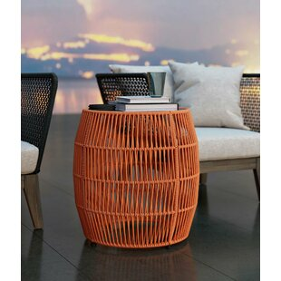 Anneri Outdoor End Table by Bungalow Rose