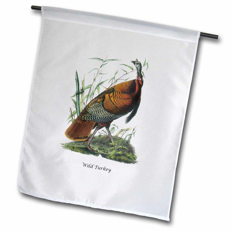 3drose Wild Turkey By John James Audubon Polyester 27 X 18 In Garden Flag Wayfair