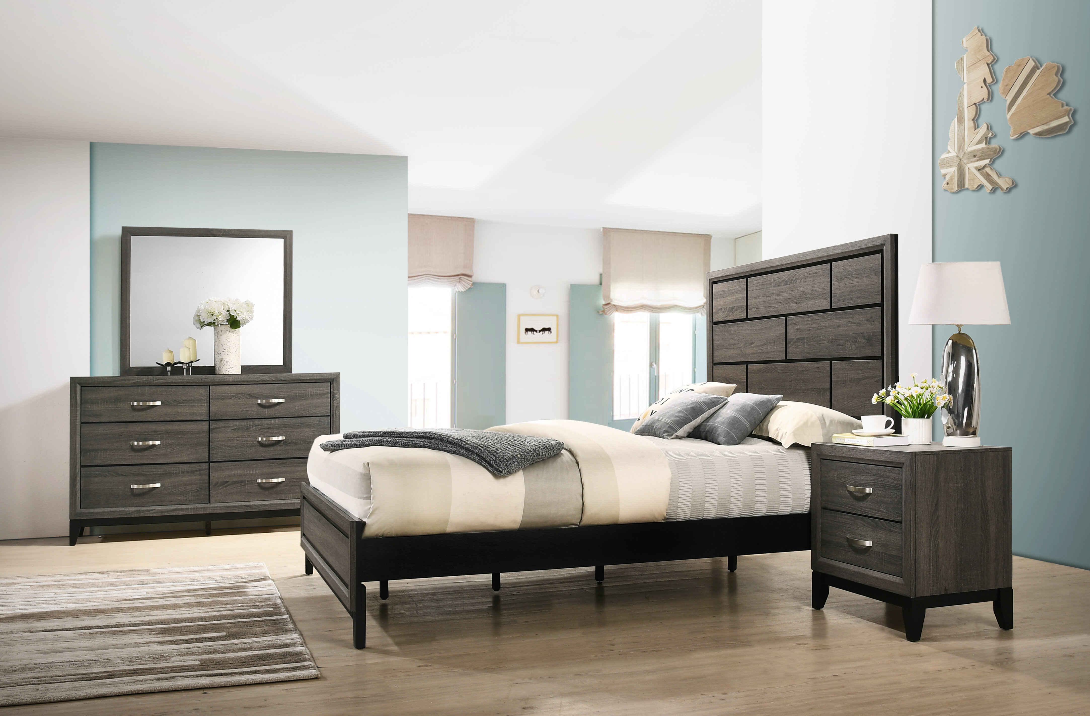Wrought Studio Macy Standard 5 Piece Bedroom Set Reviews Wayfair