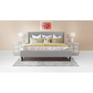Clarice Wingback Accent Upholstered Platform Bed by Jennifer Taylor