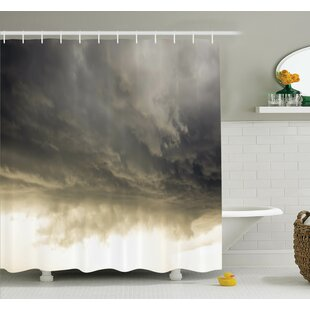 Nature Cloudy Sky Hurricane Shower Curtain Set