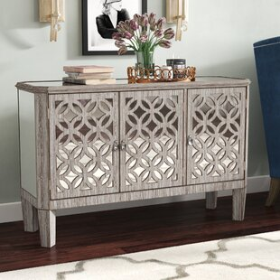 Read Reviews Montag 3 Door Mirrored Filigree Dresser By House of Hampton