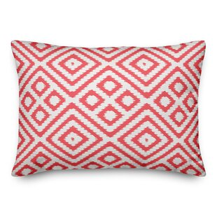 Steinman Geometric Outdoor Lumbar Pillow